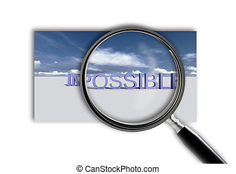 Make it possible. Motivational concept - Close up of...
