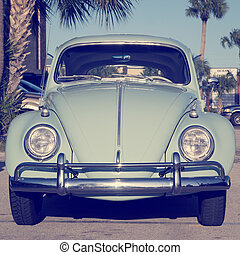 Volkswagen Beetle - Front of Volkswagen Beetle with retro...