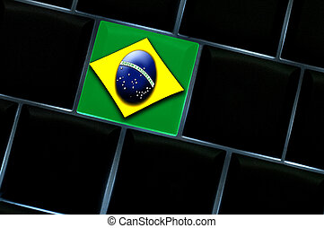 Brazilian online space concept with a backlit keyboard