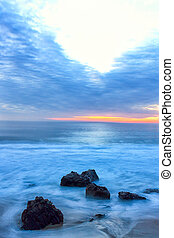 Crashing Waves at Sunset - Garrapata State Beach at Sunset...