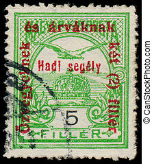 HUNGARY - CIRCA 1915: a stamp printed in Hungary shows...