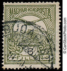 HUNGARY - CIRCA 1900: a stamp printed in Hungary shows...
