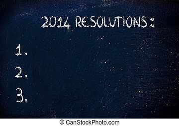 empty list of new year's resolutions and goals - empty to do...