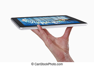 Tablet PC on hand