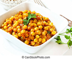 Chickpeas Stew with Parsley - Chickpeas Curry Stew,...