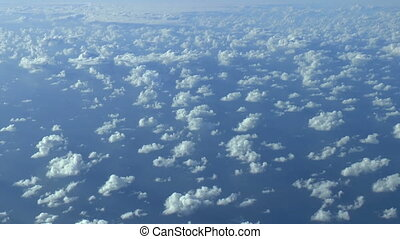 Above the clouds, aerial footage.