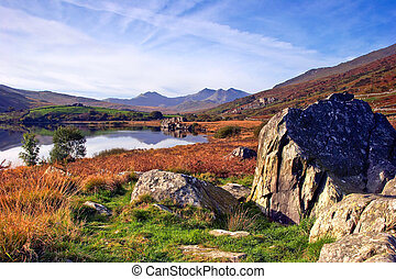 Snowdon in Autumn - The Autumn colours of the Snowdonia...