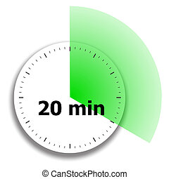 clock face stopwatch on a white background