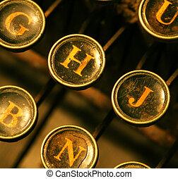Old typewriter - Close up of old typewriter