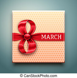 Gift for 8 March, Women's Day. Illustration contains...