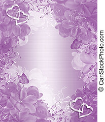 Wedding invitation lavender floral - Illustration embossed...