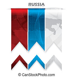 Abstract creative Russia flag modern design