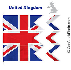 United Kingdom abstract flag