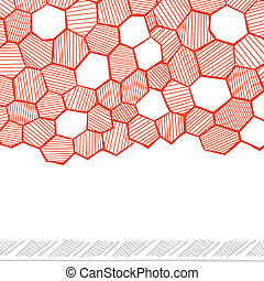 Abstract hand drawn honeycomb seamless for your business