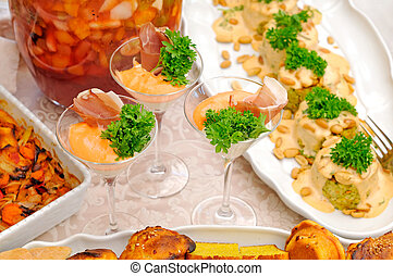 Delicious food on the party