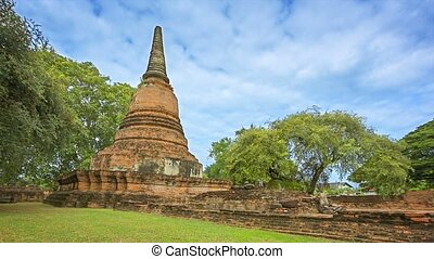 Ancient stupa of the temple complex. Thailand. Ayuthaya