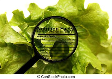 Nutrition facts - lettuce