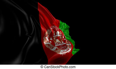 Flag of Afghanistan - Beautiful 3d animation of the...