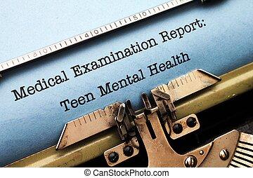 adolescente, saúde,  mental