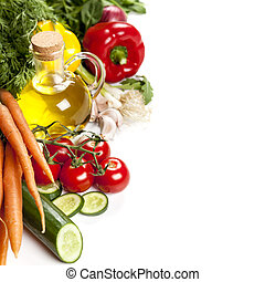 Food Background over White