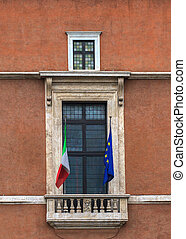 Balcony of Palazzo Venezia, Rome - View of Balcony of...
