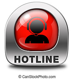 hotline icon call center button or helpline sign for online...