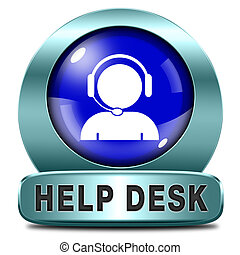 help desk icon or button or online support call center...