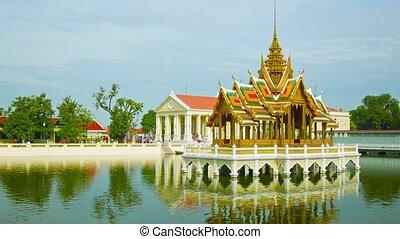 Thailand Ayuthaya panorama of Bang Pa-In Palace - Video...
