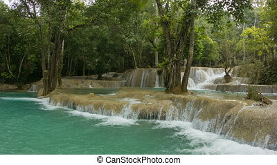 Kouang Si Waterfall. Laos - Video 1080p - Kouang Si...