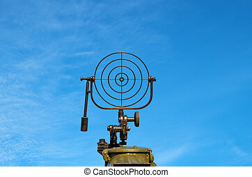 Crosshair sight - Bead sight of anti-aircraft machine gun...