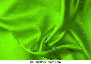 Gren silk fabric background