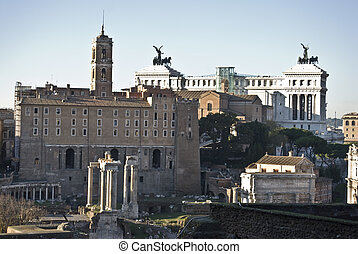 Forum Romanum - Musei Capitolini and the Monumento Vittorio...