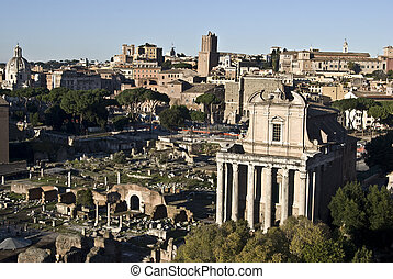 Forum Romanum - part of the famous Forum Romanum in the city...
