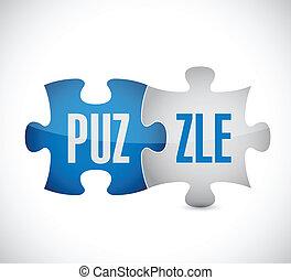 puzzle illustration design