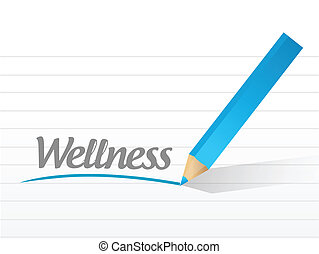 wellness message illustration design over a white background