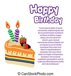 lgbt - a colored lgbt happy birthday with purple text