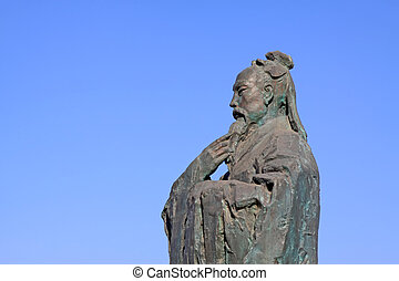 Ancient Chinese Confucianism master sculpture - Luannan,...