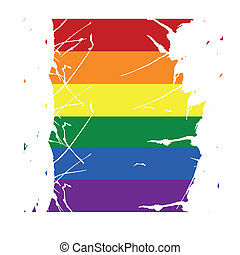 lgbt - a colored lgbt flag with some white paths in it