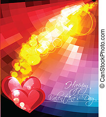Vector valentines day background. - Abstract Vector Heart...
