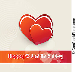 Vector valentines day background - Abstract Vector Heart for...
