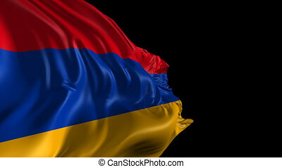 Flag of Armenia - Beautiful 3d animation of the Armenia flag...