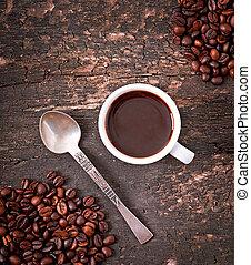 taza, espresso, café