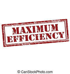 Maximum Efficiency-stamp - Grunge rubber stamp with text...