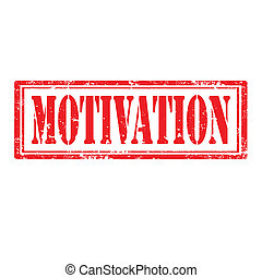 Motivation stamp - Motivation grunge stamp, vector...