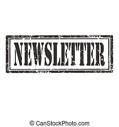 Newsletter-stamp - Grunge rubber stamp with text...