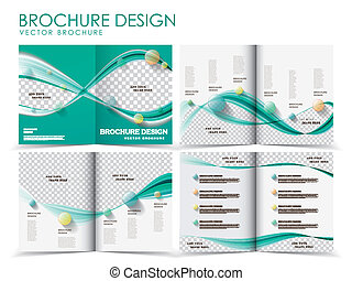 vector brochure layout design template - Template of...