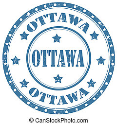 Ottawa-stamp - Grunge rubber stamp with text Ottawa,vector...