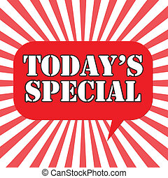 Todays Special - Background with text Todays Special,vector...
