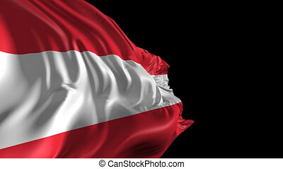 Flag of Austria - Beautiful 3d animation of the Austria flag...