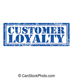 Customer Loyalty-stamp - Grunge rubber stamp with text...